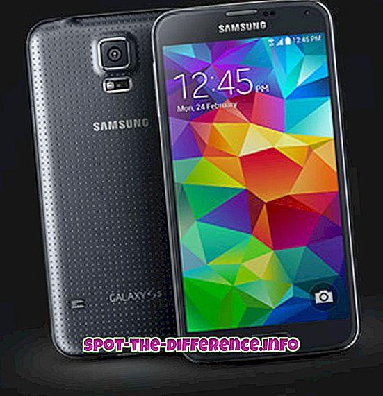 rozdíl mezi: Rozdíl mezi Samsung Galaxy S5 a S4