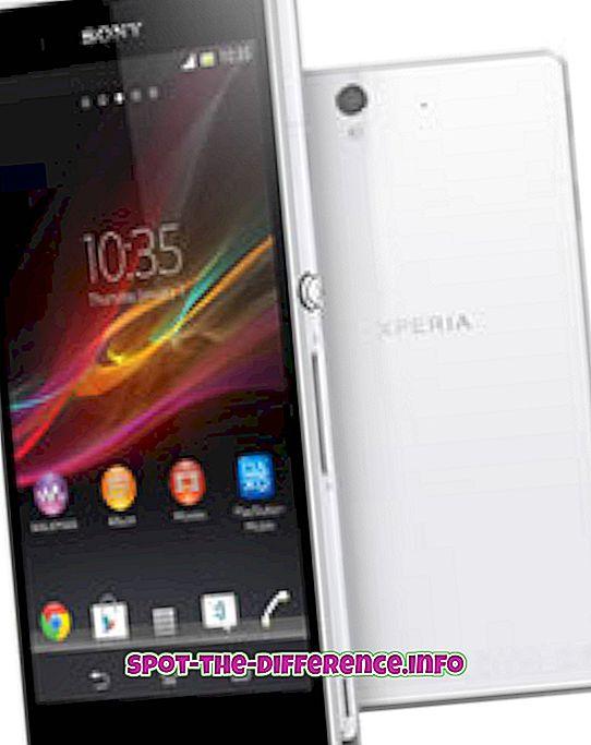 A Sony Xperia Z és az iPhone 5 közötti különbség