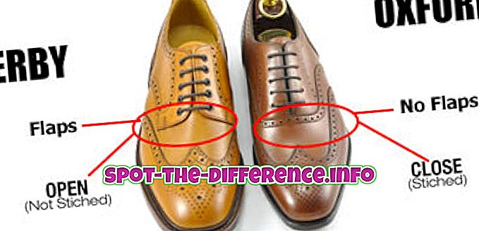 differenza tra: Differenza tra Derby e Oxford Shoes