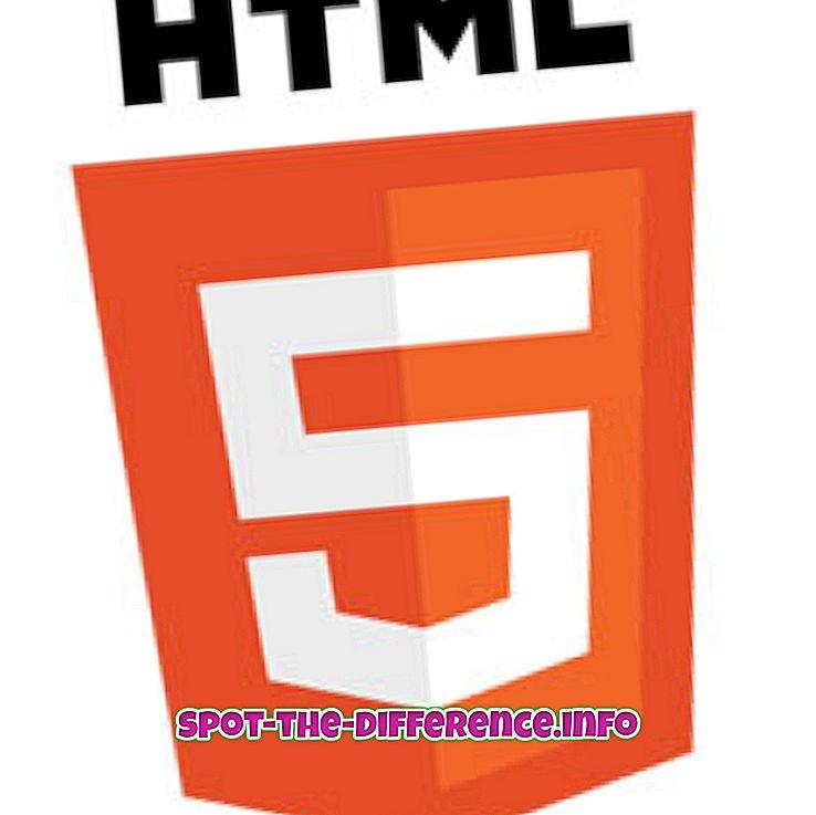 ความแตกต่างระหว่าง HTML5 และ XHTML