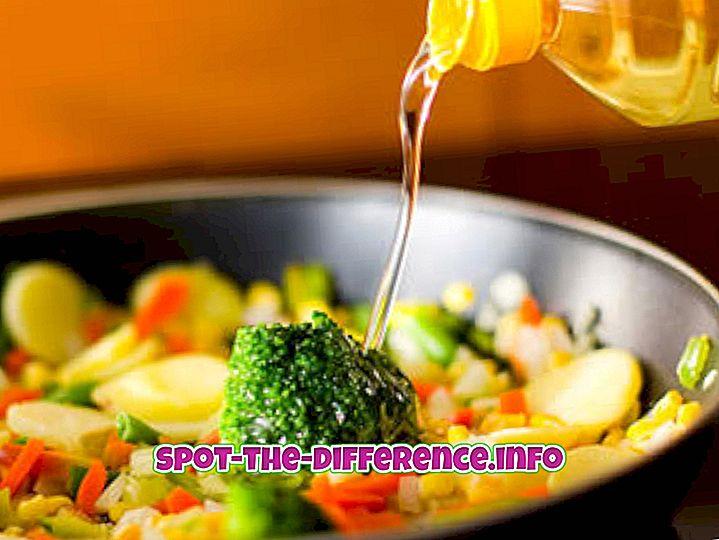 Rozdíl mezi olejem na vaření a olejem na smažení