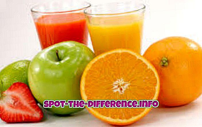 Juicen ja Squashin välinen ero