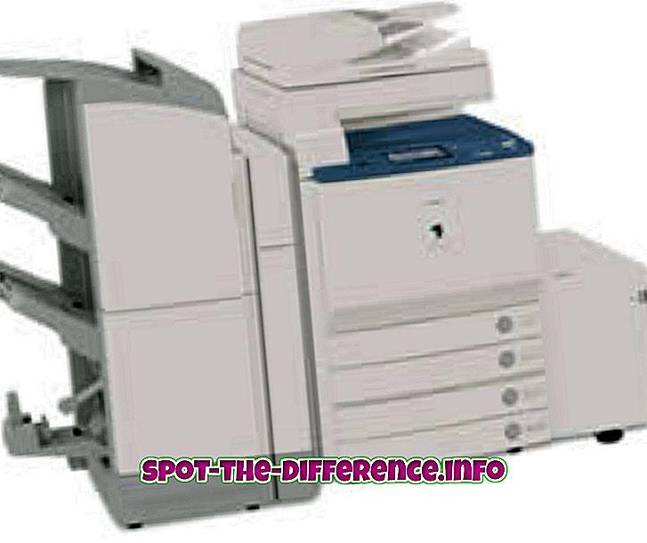 разлика между: Разлика между копирната машина и принтера