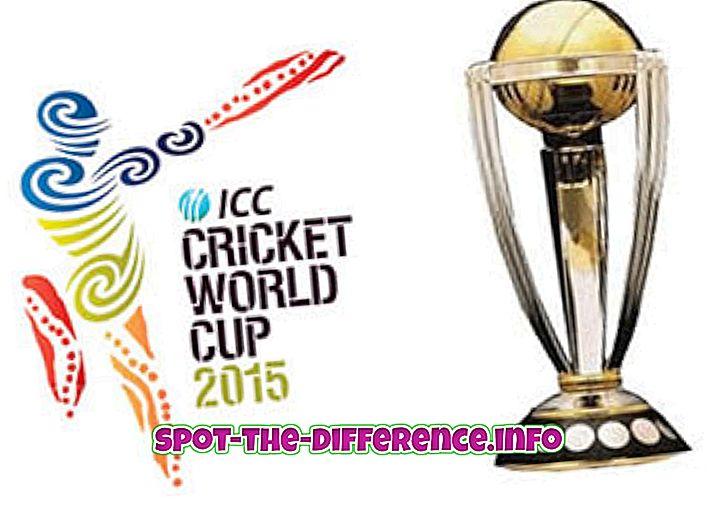 Starpība starp Cricket World Cup un Čempionu trofeju