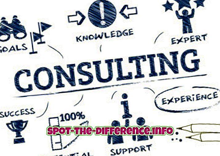 perbedaan antara: Perbedaan antara Konsultan dan Freelancer