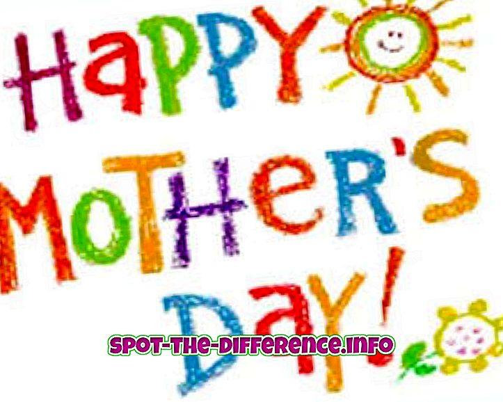 Unterschied zwischen: Unterschied zwischen Muttertag und Frauentag