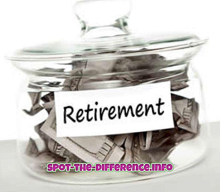 Erinevus 401K ja IRA vahel