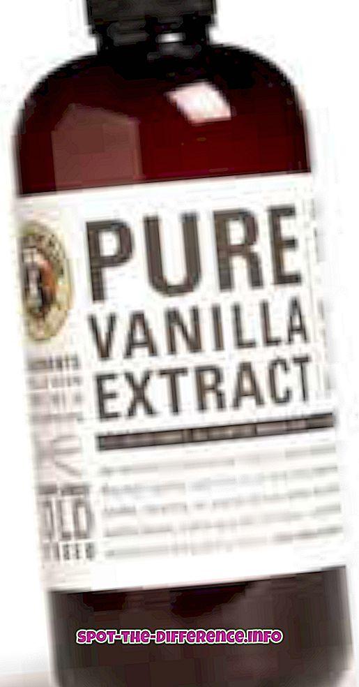 différence entre: Différence entre l'essence de vanille et l'extrait de vanille