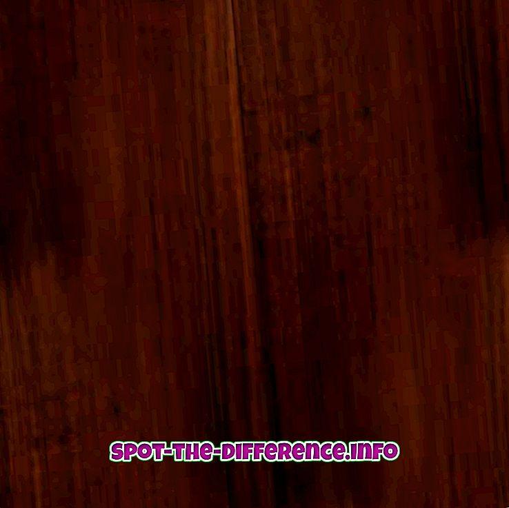 Różnica między palisandrem a mahoń
