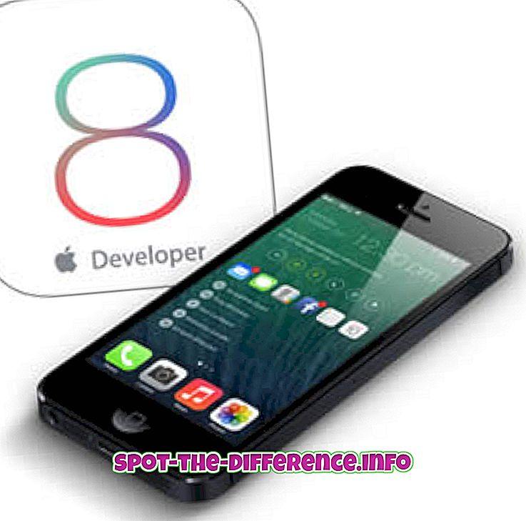 différence entre: Différence entre iOS 8 et iOS 9