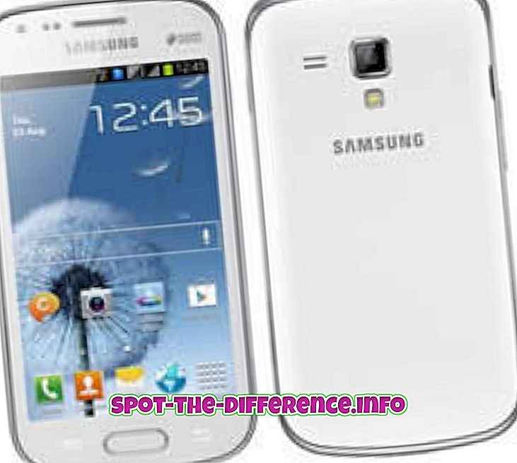 forskjell mellom: Forskjell mellom Samsung Galaxy S Duos og Samsung Galaxy S2