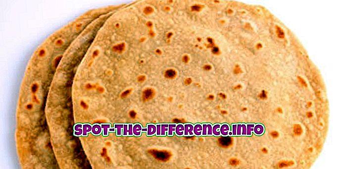 Unterschied zwischen: Unterschied zwischen Roti und Paratha
