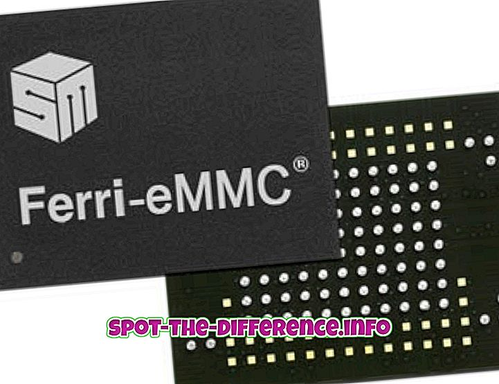 ความแตกต่างระหว่าง eMMC และ HDD