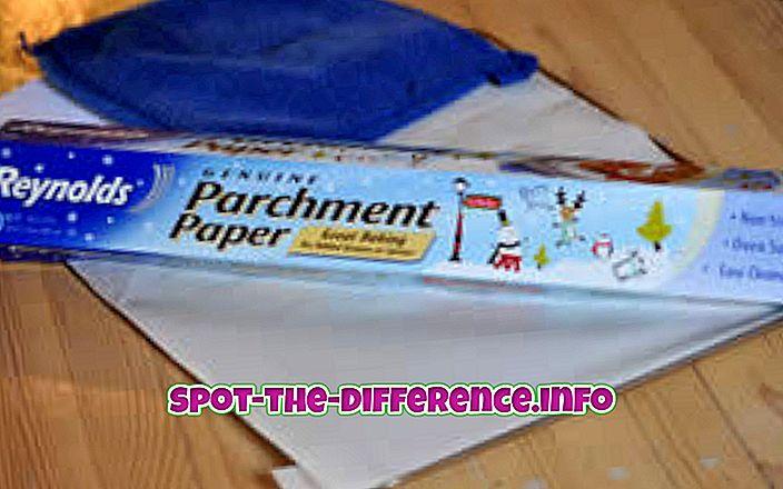 Rozdíl mezi pergamenovým papírem a mrazicím papírem