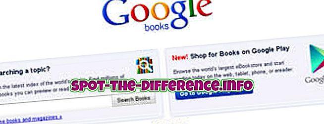 Rozdiel medzi službou Knihy Google a eKnihy Google