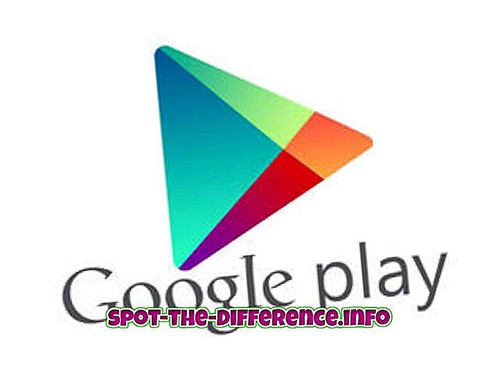 Perbedaan antara Google Play Store dan Google Play Services