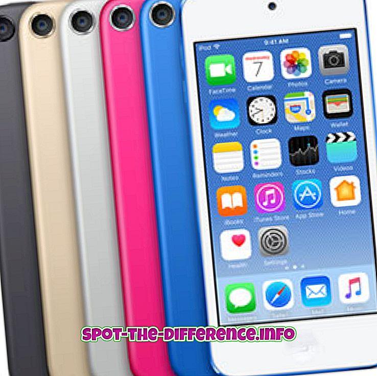 vahe: Erinevus iPod Touchi ja iPod Nano vahel