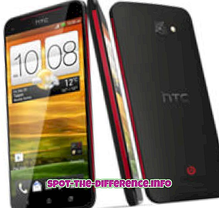 Erinevus HTC Butterfly ja LG Optimus G vahel