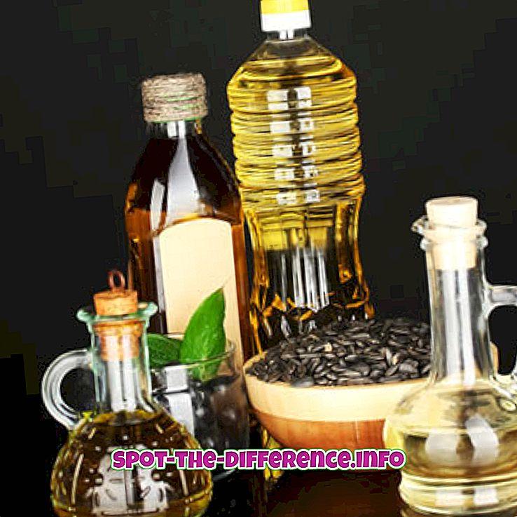 Unterschied zwischen Rapsöl und Pflanzenöl