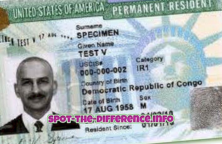 Perbedaan antara Green Card dan Permanent Resident
