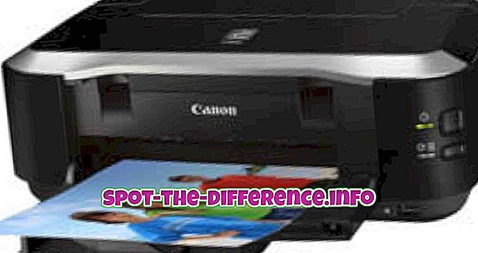 verschil tussen: Verschil tussen Inkjet- en Deskjet-printers