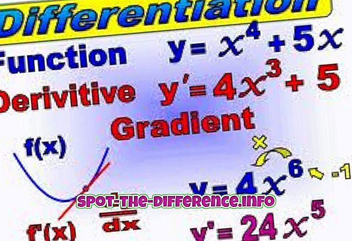 a különbség köztük: A differenciálás és az integráció közötti különbség