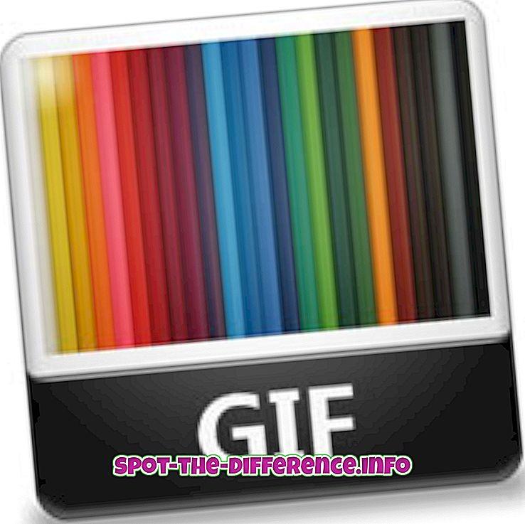 différence entre: Différence entre GIF et TIFF
