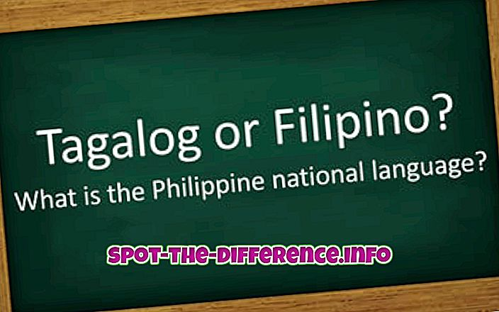 a különbség köztük: A tagalog és a filippínó közötti különbség