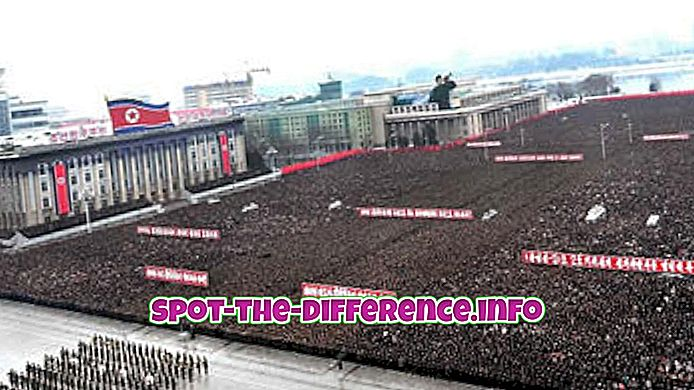 Rozdíl mezi Severní a Jižní Koreou