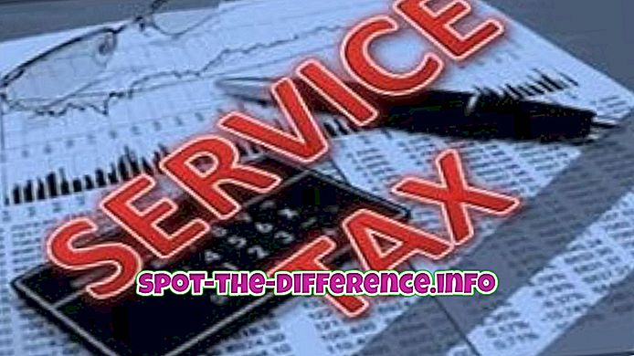 разница между: Разница между налогом на обслуживание и налогом на добавленную стоимость (НДС)