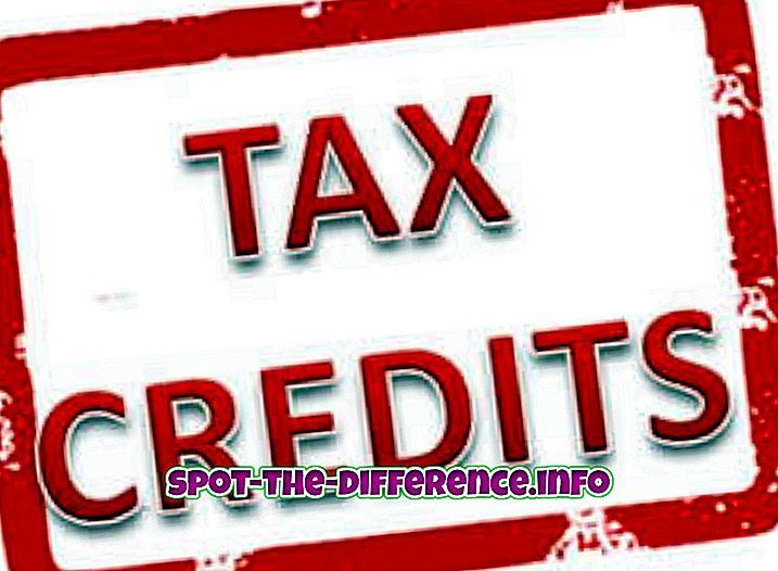 perbedaan antara: Perbedaan antara Kredit Pajak dan Pengurangan Pajak