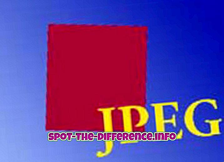 Forskjellen mellom JPEG og MPEG