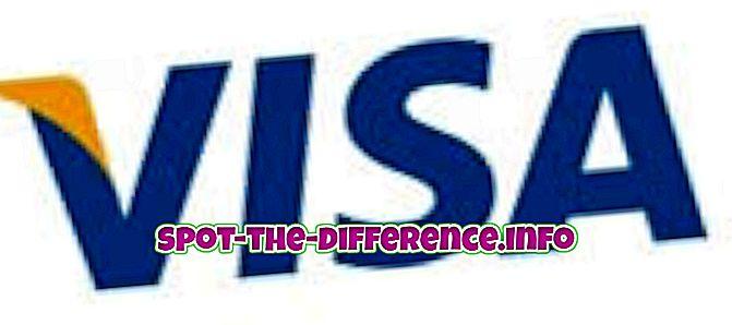 atšķirība starp: Atšķirība starp Visa un MasterCard