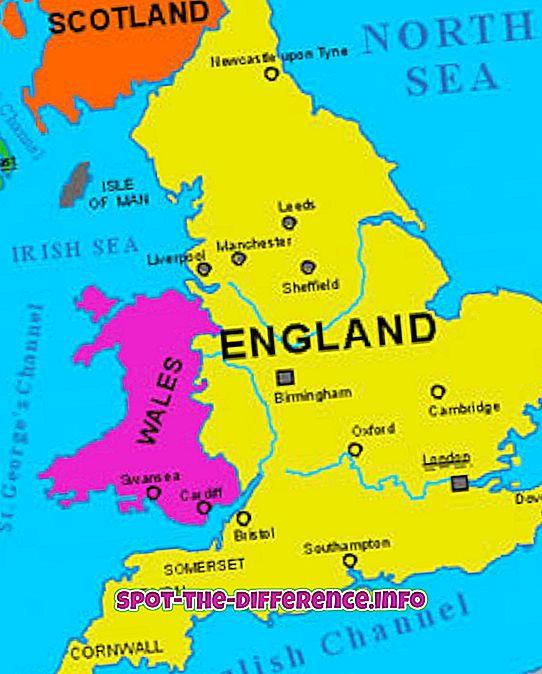 διαφορά μεταξύ: Διαφορά μεταξύ Αγγλίας και Νέας Αγγλίας