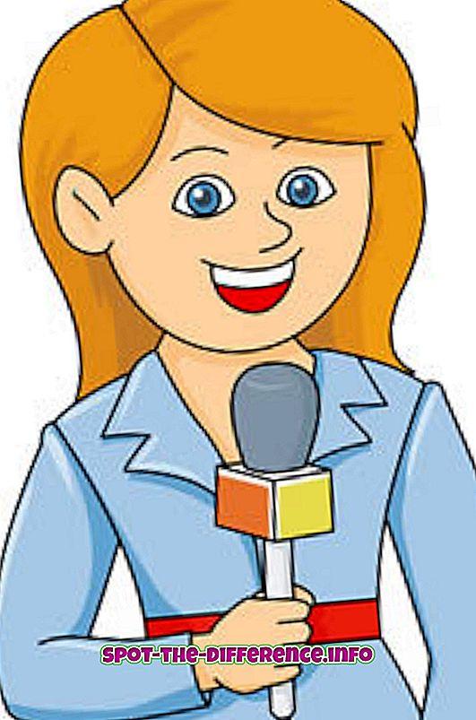 ความแตกต่างระหว่างผู้สื่อข่าวและนักข่าว
