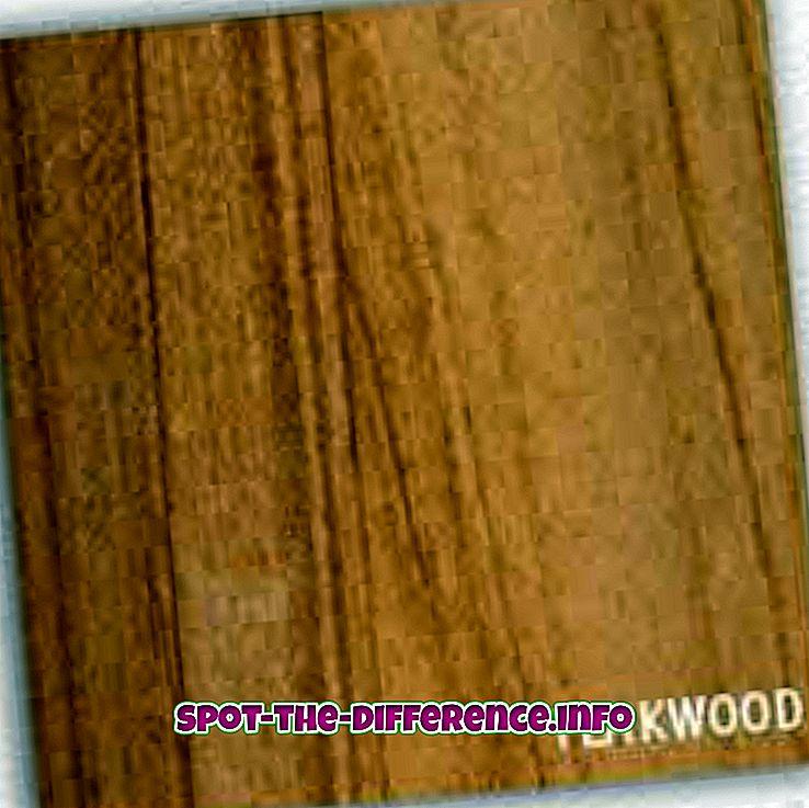 Rozdiel medzi teakovým drevom a gumovým drevom