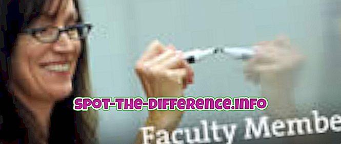 atšķirība starp: Atšķirība starp fakultāti un personālu