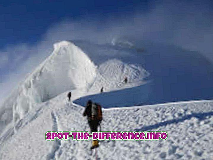 diferencia entre: Diferencia entre escalada y escalada en roca