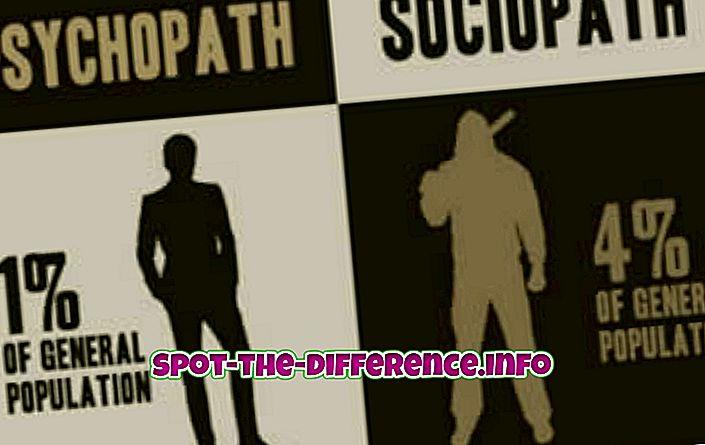 Atšķirība starp Sociopath un Psychopath