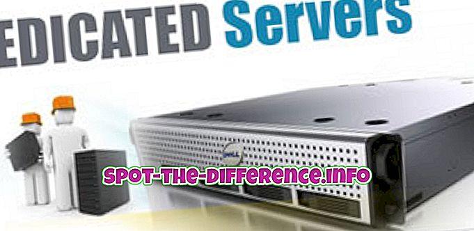 atšķirība starp: Atšķirība starp Dedicated un Shared Server