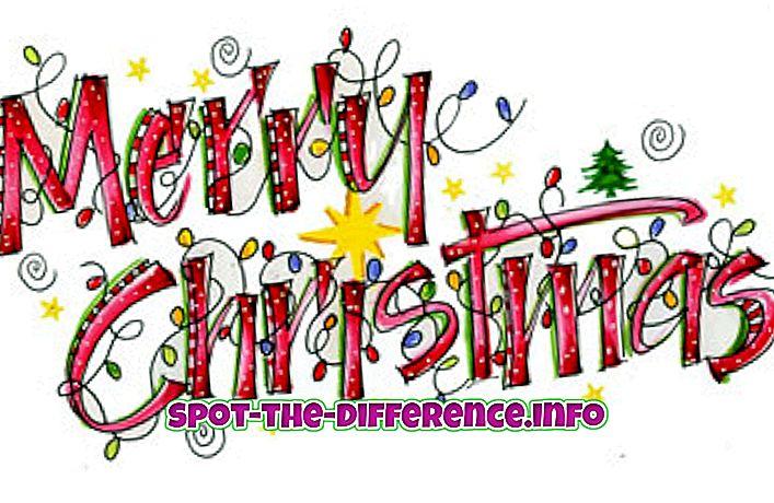 Starpība starp Ziemassvētku un Jauno gadu