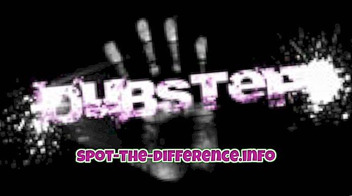Starpība starp Dubstep un Techno