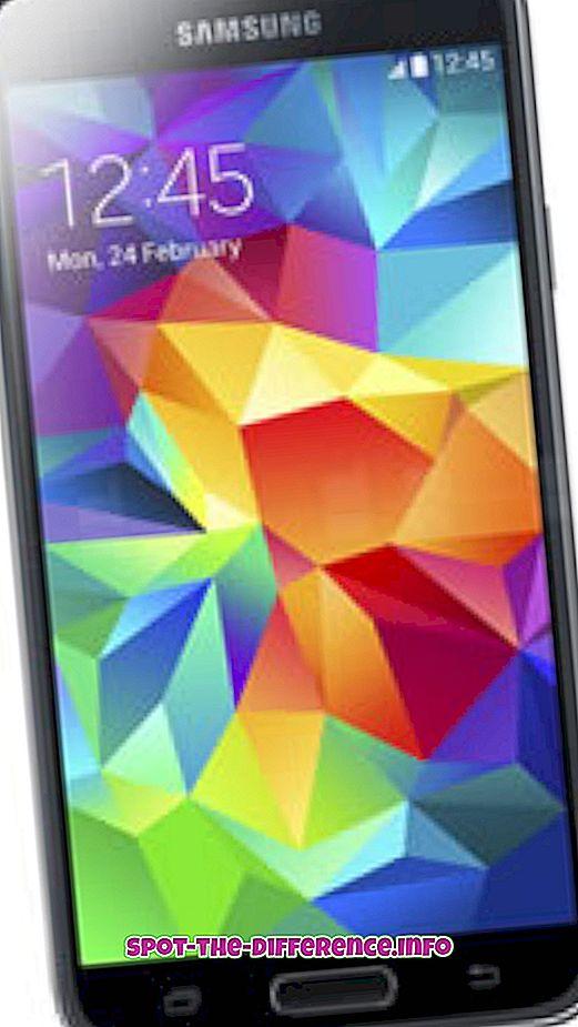 différence entre: Différence entre Samsung Galaxy S5 et S3