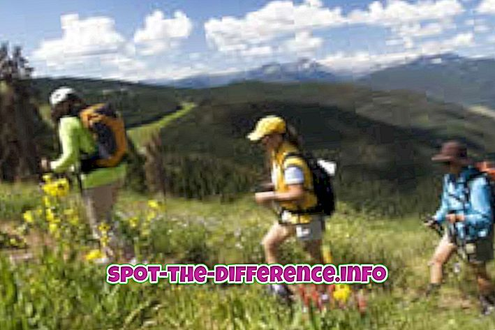 Różnica między wędrówkami a wspinaczką górską