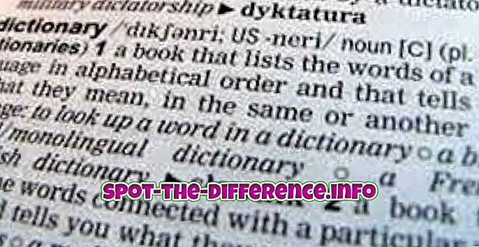 Rozdíl mezi slovníkem a tezaurem
