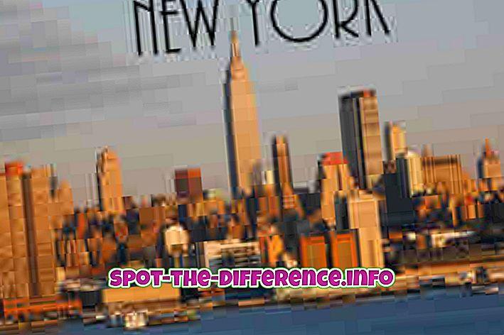 różnica pomiędzy: Różnica między Nowym Jorkiem a Chicago