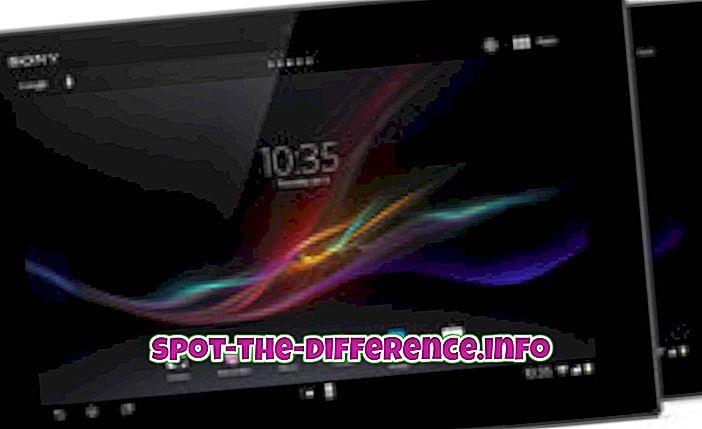Unterschied zwischen: Unterschied zwischen Sony Xperia Z Tab und Google Nexus 10