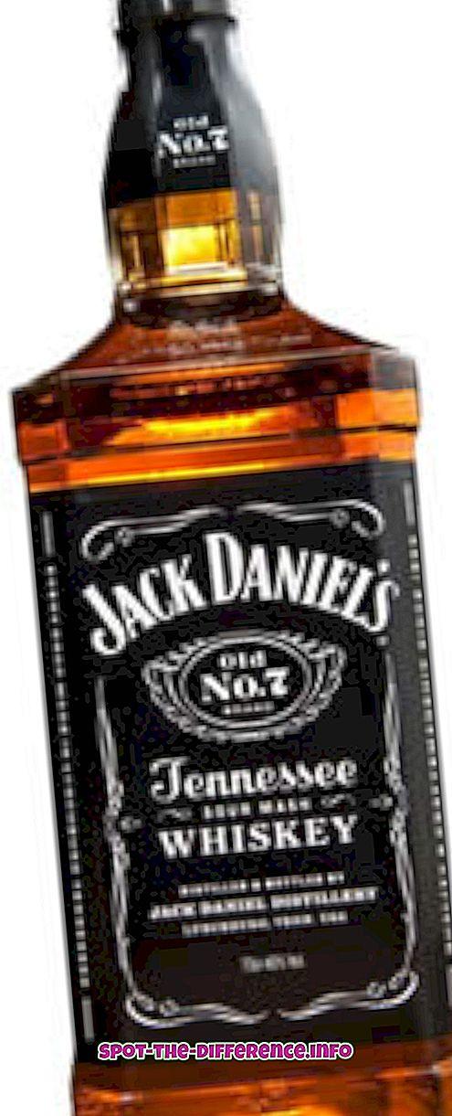 perbedaan antara: Perbedaan antara Wiski dan Bourbon