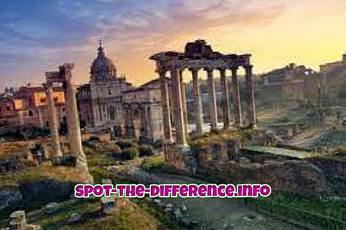 rozdíl mezi: Rozdíl mezi Římem a Řeckem