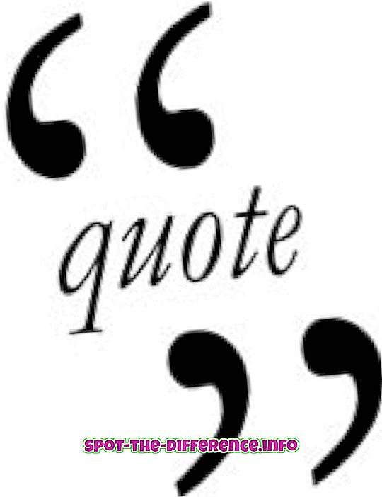 ero: Ero Cite ja Quote välillä